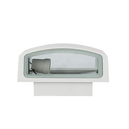 Universo – Aplique de exterior lámpara de pared de aluminio y cristal para jardín y terraza – IP44 casquillo E27 máx. 60 W dim. 12,5 x 22 x 9 cm.