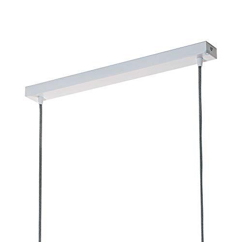 Preisvergleich Produktbild Flairlux Baldachin rechteckig Lampe 2 flammig weiß Metall Lampenbaldachin rechteckig zum Bau von Deckenleuchten / Lampe für Esstisch / Lampenaufhängung Lampenzubehör DIY / L 80 x B 5 x H 2, 5