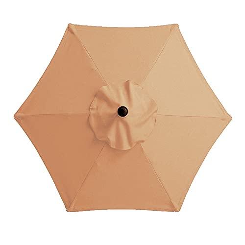 SmallYin Cubierta de repuesto para sombrilla, para mesa de mercado, 300 cm, 8 varillas, impermeable, duradera, para jardín, patio, piscina A03 Medium