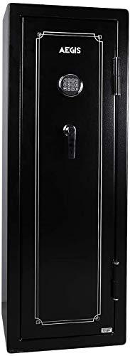 Aegis Fireproof Rifle Gun Safe,10-Gun Shotgun Rifle Safe Cabinet, 5.52 cu.ft Large Electronic Gun Storage Security Cabinet with Digital Keypad Lock and Keys
