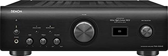Denon PMA-1600NE Stereo Integrated Amplifier  Up to 140W x 2 Channels   Built-In DAC and Phono Pre-Amp  With Type-B USB Input for High-Res PCM Files  Analog Mode  Advanced Ultra High Current Power