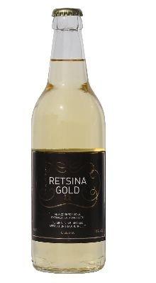 Retsina Gold geharzter Weißwein 500 ml Flasche C.A.I.R. aus Griechenland griechischer Weiß Wein