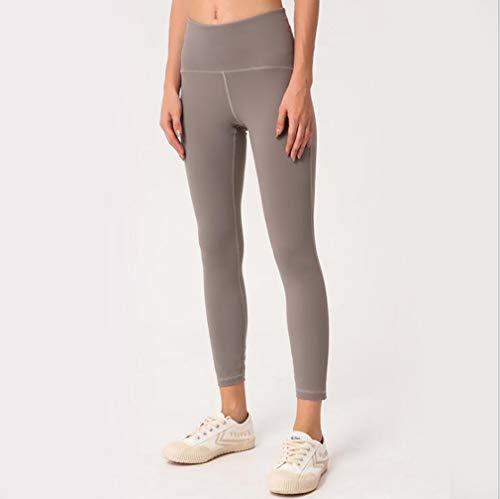 HCYTPL yogabroek voor dames, met hoge taille-raise in elkaar grijpende gaas  dunne broeken Solid Color yogabroek