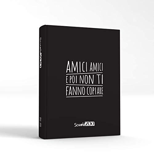ScuolaZoo Agenda Diario Scolastico 2019 2020 con Meme divertentissimi e Tanti Adesivi, Disponibile in 6 Colori e 3 Dimensioni (Nero, Classic)