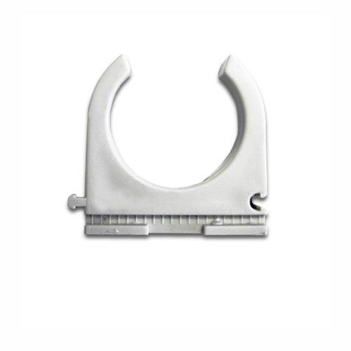 25 Stück Kopos Klemmschelle M40 40mm anreihbar Clippschelle für Stangenrohr aus PVC