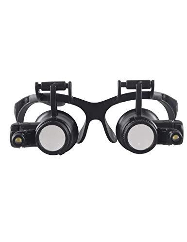 Lupa de artesanía creativa Lupa con gafas LED montadas en la cabeza, aumento del 10/15/20/25 ×, mejor lupa de lectura, adecuada for libros, periódicos, mapas, monedas, joyas, pasatiempos y manualidade