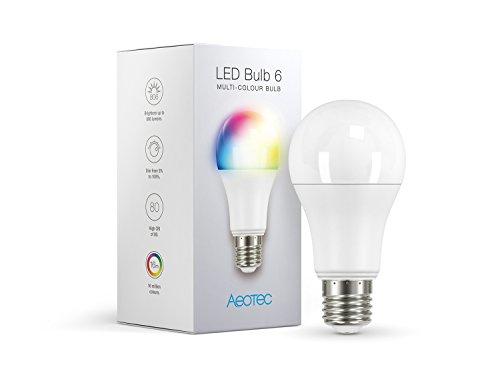 Aeotec 4344 LED Bulb 6, Z-Wave Plus rgbw-lampadina & cambia, dimmerabile, 9W, equivalenti a incandescenza da 60Watt, lampadina, attacco E27, small