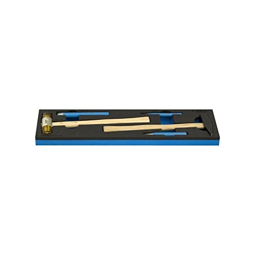 Unior 621293 621293-Juego de 5 botadores y cortafrios en Bandeja SOS-/5 Serie 964ECO10, azul