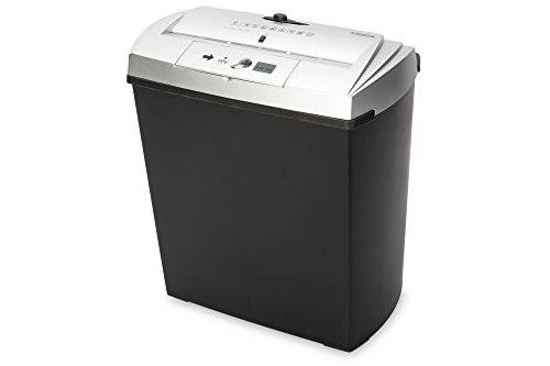 Ednet S7CD - Destructora de papel, color negro y plata