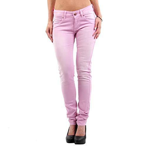 Nolita Damen Jeans Hose Cyndi Gabardina Stretch Lilla Purple 12DB50040 W 28