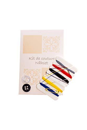 MAQA Kit di cortesia Set Cucito con Bottone ago e Cotone 100 Pezzi a Confezione 1
