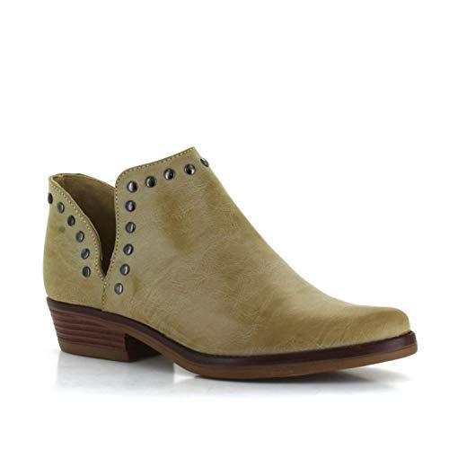 Seven7 Women's Antonio Ankle Booties Split Shaft Everyday Vegan Leather Boot Pointed Toe
