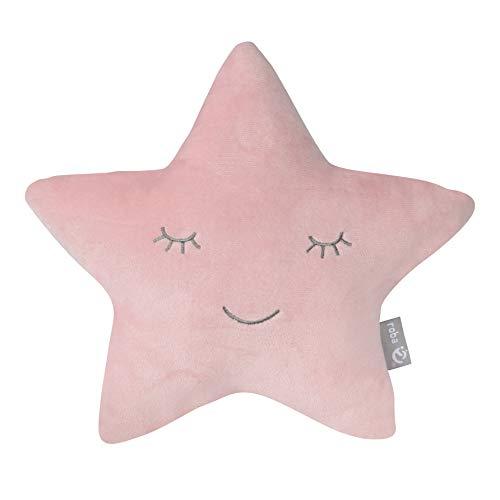"""roba Kuschelkissen """"roba Style"""" Stern Rosa/Mauve, flauschiges Kinderkissen für Mädchen und Jungen ab 0 Jahren, weiches Dekokissen für Baby- und Kinderzimmer, Sternenkissen, Zierkissen"""