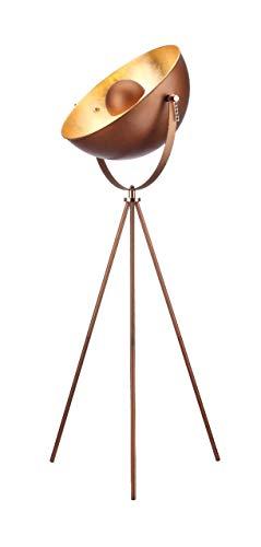 Modernluci Stehlampe Stativ - Retro-Design Stehleuchte Stehlampe Studiolampe Stehleuchte für Wohnzimmer Schlafzimmer Büro, innen Blattgold gemalt, 51 cm Durchmesser, 156 cm Höhe
