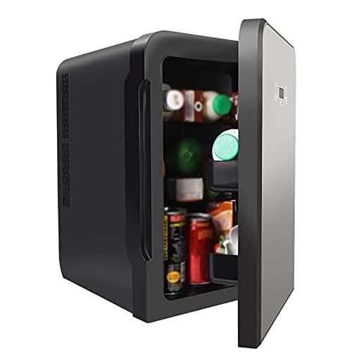 LYZL 10 Mini Refrigerador Y Calentador De Refrigerador | 10L De Capacidad | Compacto, Portátil Y Silencioso | Compatibilidad De Alimentación CA + CC (Negro)