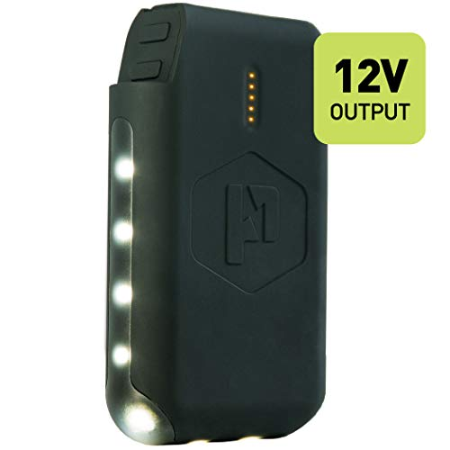 Power Practical Pronto 12V Power Bank and LED Lantern with 2.4A USB Output - Made for Luminoodle Basecamp - 3.35Ah @ 12V (10,050 mAh 3.7V Equivalent) with LED Lantern