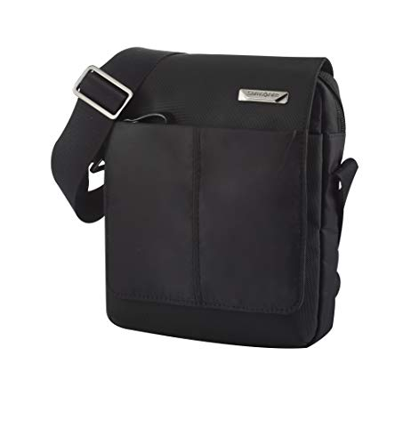 Samsonite Hip-Tech 2 Messenger Bags, Tablet Umhängetasche +Klappe, 7.9 Zoll (22cm-2.5L), Black