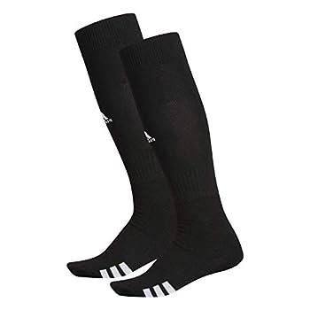 adidas Unisex Rivalry Field OTC Socks  2-Pair  Black/ White Medium