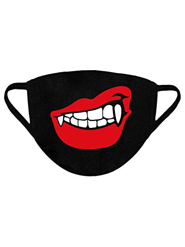 Fang Face Mask Reusable Fabric Face Mask Vampire Washable 100% Cotton Mask