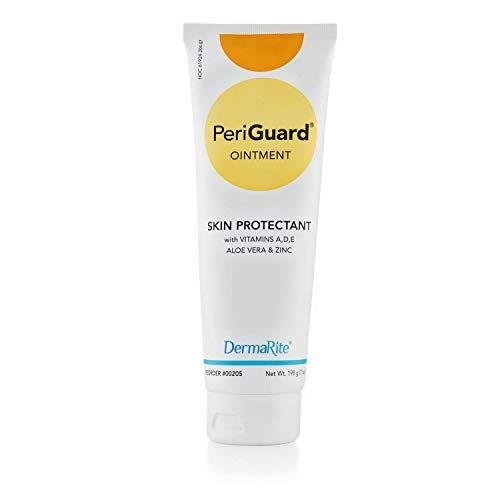 Dermarite PeriGuard Skin Protectant Ointment, 7 oz Tube - with Vitamins A, D, E, Aloe Vera and Zinc - Clear Moisture Barrier Cream