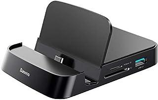 قاعدة موزع شحن ذكية بيسوس ميت للهواتف المحمولة بمنفذ يو اس بي نوع سي - اسود