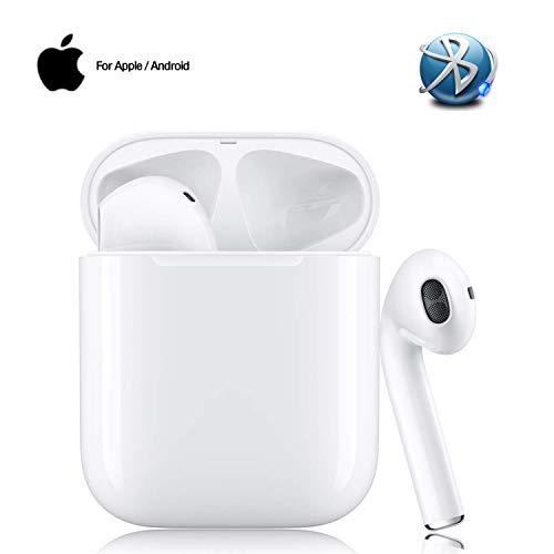 Auricolari Bluetooth 5.0 Senza Fili Cancellazione del rumore 3D, Auricolari con Custodia da Ricarica 24 Ore di Tempo di Utilizzo, Mic-Incorporato per Samsung iPhone Apple Ear-In Cuffie