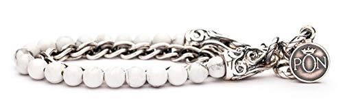 Portonovo Damen-Armband mit Steinchen in Salz und Silber-Finish Länge 16-18cm