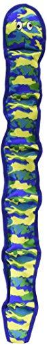 Pet Lou Seawarrior Snake Durable Plush Soft Squeak Interactive Dog Chew Toy 13', Asst Colors, PL-01705