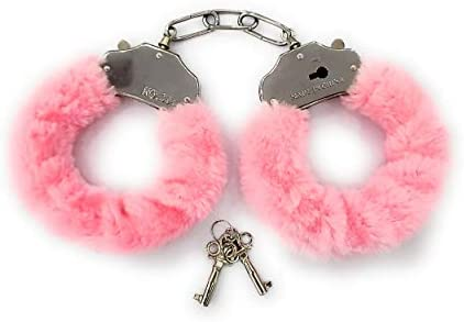JASINCESS Plush Handcuffs with Keys Toy handcuffs Stage costume props Pink product image