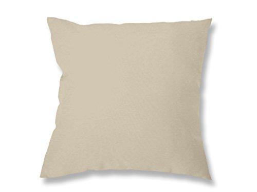 Soleil d'Ocre 547232 Alix Coussin Déhoussable Polyester Taupe/Ecru 40 x 40 cm