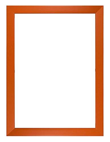 Memory Box Bilderrahmen, Regenbogenfarben, mit Plexiglas-Blatt, Rahmenmaße: 19 mm breit und 15 mm tief, 29,7 x 42 cm, Orange, A3