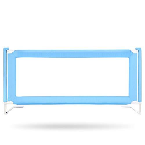 QIANDA Barrera Cama Riel De Soporte De Camas Ajustable En Altura Protectores De Sueño Cama Doble/Individual para Cuna Convertible, Azul (Size : 200cm)