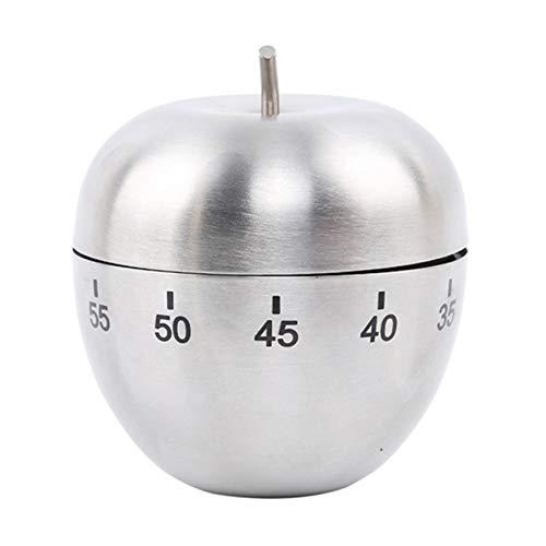 Weiy Apple Shaped Kitchen Timer, Edelstahl Küche Manual Timer für Schlafzimmer Wohnzimmer