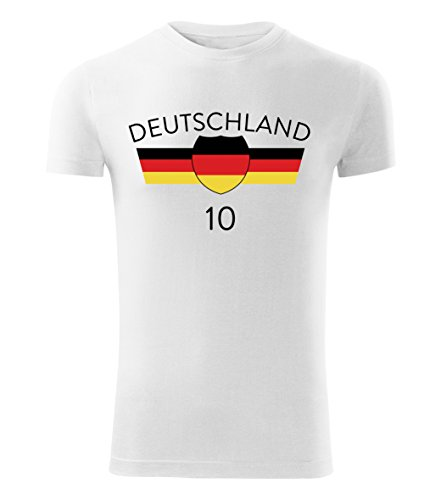 Fußball Trikot T-Shirt EM 2016 alle Länder Deutschland Frankreich Island Wales (Weiß, XXL)