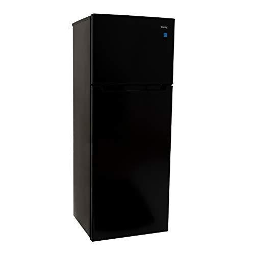 Danby DPF073C2BDB 7.3 Cubic Feet Apartment Size Dual Door Refrigerator and Freezer, Black