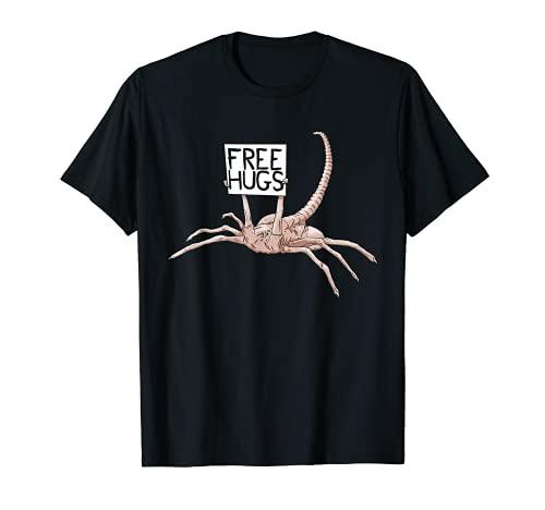 Free Hugs Funny Facehugger Aliens T-Shirt