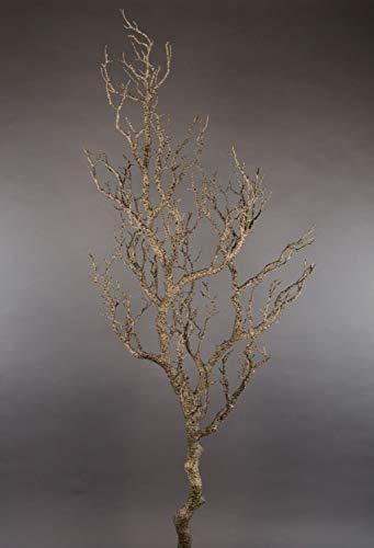 Seidenblumen Roß Großer Dekoast/Dekozweig 120cm braun YF künstlicher AST Zweig Kunstast Kunststoff