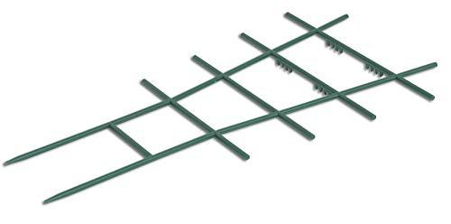 Windhager Blumenstütze Rankhilfe Gitterspalier Rankgitter, Kunststoff, gerade, Grün, 43 x 23 cm - 5