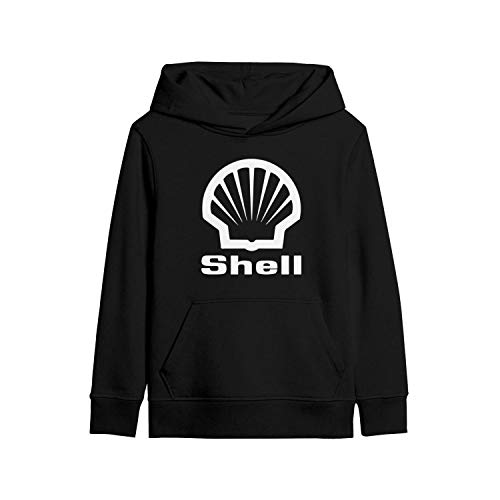 MNYAE Kids' Hooded Youth Sweatshirt Shell-Gasoline-Gas-Station-Near-me- with Pocket Black Pullover Hoodies for Boys Girls