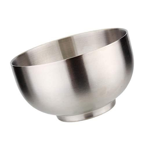 perfeclan Edelstahlschüssel Rührschüssel Salatschüssel Servierschüssel Snackschüssel, viele Form Auswahl - 140 X 92mm