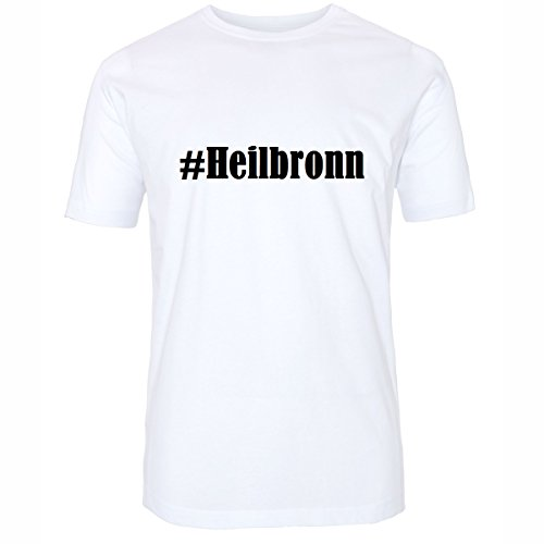 T-Shirt #Heilbronn Größe 4XL Farbe Weiss Druck schwarz