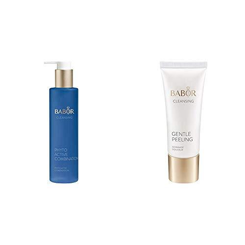 BABOR CLEANSING Phytoactive Combination, Reinigung mit Pflanzenextrakten, für Mischhaut und ölige Haut, 1x100 ml & CLEANSING Gentle Peeling, für jede Haut, mildes Gesichtspeeling, 1 x 50 ml