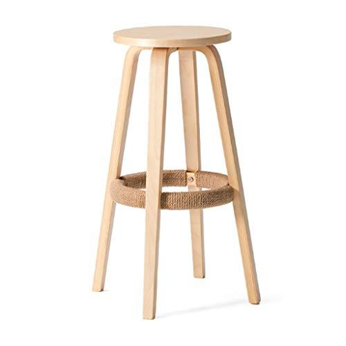 XQAQX kruk massief hout Swivel Bar stoelen Zitting, Teller kunstleer Vrijetijdsontbijt gastronomie barkrukken voor keuken Cafe Pub Stool