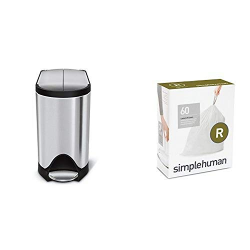 Best Deals! simplehuman 10 litre butterfly step can fingerprint-proof brushed stainless steel + code...