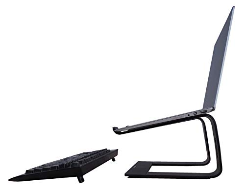 NEUN WELTEN Supporto per Laptop Nero Premio Supporto Portatile in Alluminio Adatto per Portatili da 10 a 15,9 Pollici (Modello 1)