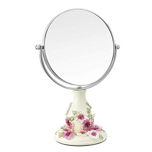 DC Wesley Vintage Makeup Mirror,Mirror 360 ° Rotating Stand,1X And 3X Magnification,Round Double Dual Side Rotating Cosmetic Mirror