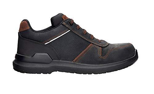 ARDON MASTERLOW O2 Arbeitsschuhe Herren Damen Stilvolle Komfortables leichtes wasserdichtes Schuhe Nubukleder EN-20347 SRC; Schwarz mit Braun; (44 EU, 44)