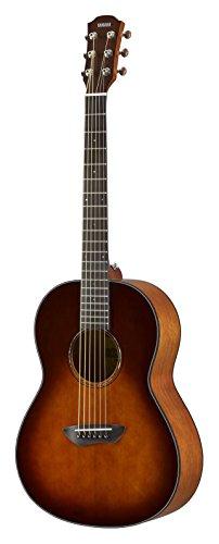 Yamaha CSF1MTBS Westerngitarre tobacco brown sunburst, Kompakte und elegante Akustikgitarre mit sattem Sound, Ideal für unterwegs, Inklusive Gitarrentasche