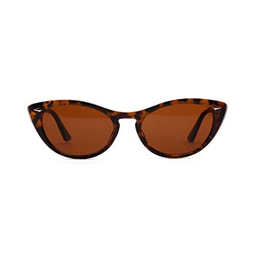 Glqwe Klassieke zonnebril, uv-bescherming, katten-spiegel-zonnebril, vintage-stijl, ideaal voor op reis, party-foto-accessoires.