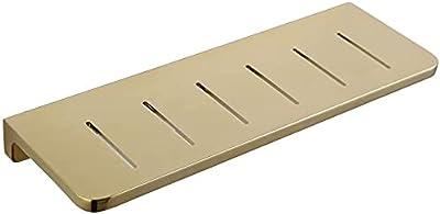3色(カラー:フラットウェア)HYDJJ、浴室シェルフシャワーオーガナイザー壁銅強化ラックパンチの取り付け 0909